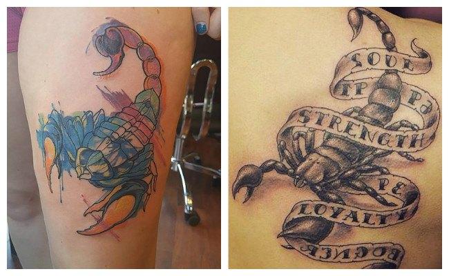 Tatuajes de escorpiones metálicos