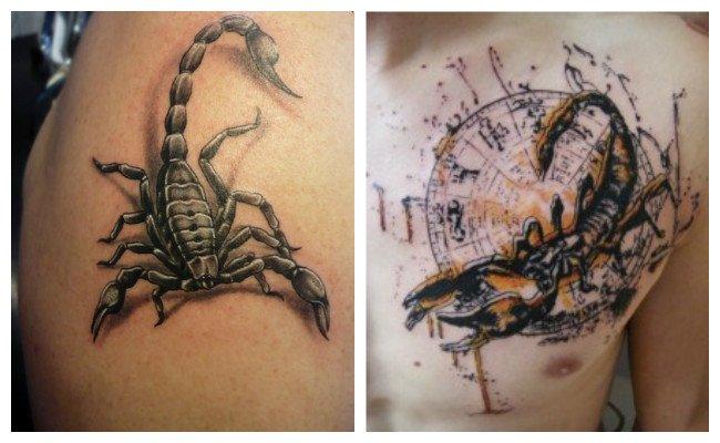 Tatuajes de escorpiones en la muñeca