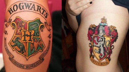 tatuajes escudo hogwarts