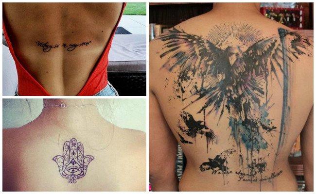 Tatuajes en la espalda de el árbol de la vida