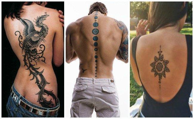 Tatuajes en la espalda con nombres