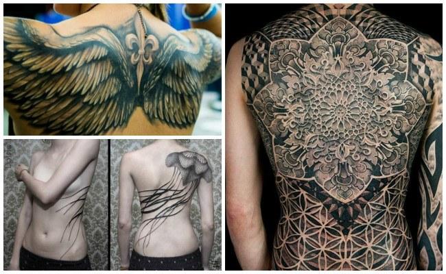 Tatuajes en la espalda de mariposas