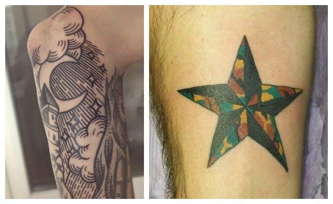 Tatuajes de estrellas grandes fotos