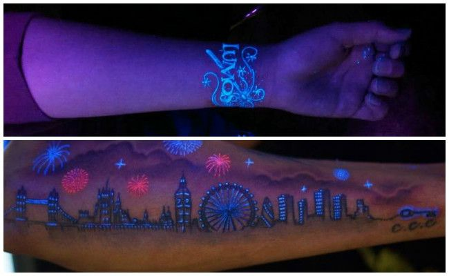 Tatuajes fluorescentes invisible