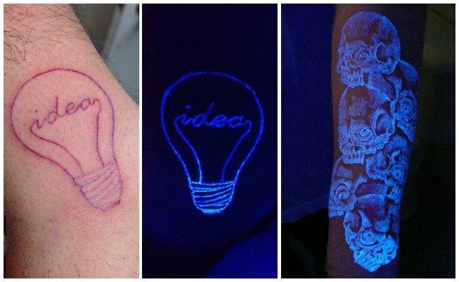 Tatuajes fluorescentes para hombres