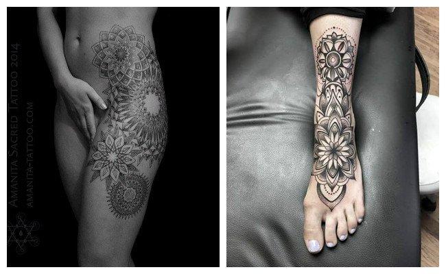 Tatuajes den forma de mandalas para mujeres