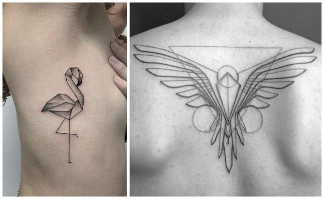 Tatuajes geométricos en el brazo