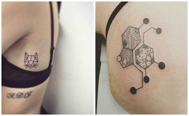 Tatuajes geométricos con flechas