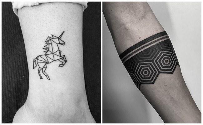 Tatuajes geométricos de tribales