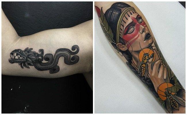 Tatuajes de guerrero azteca