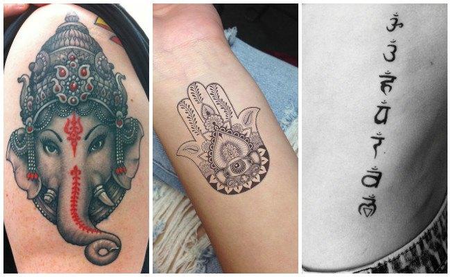 Tatuajes hindúes a color