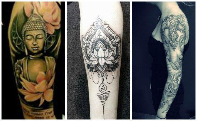 Tatuajes hindúes en las manos