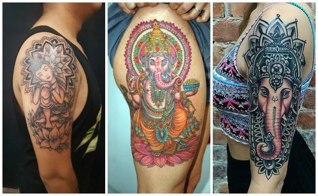 Tatuajes hindúes pequeños