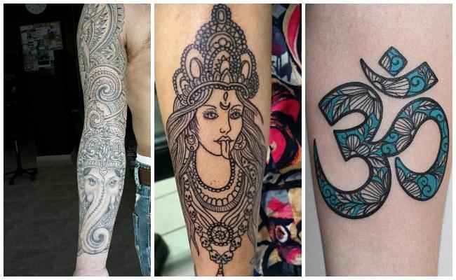 Tatuajes hindúes en el pie