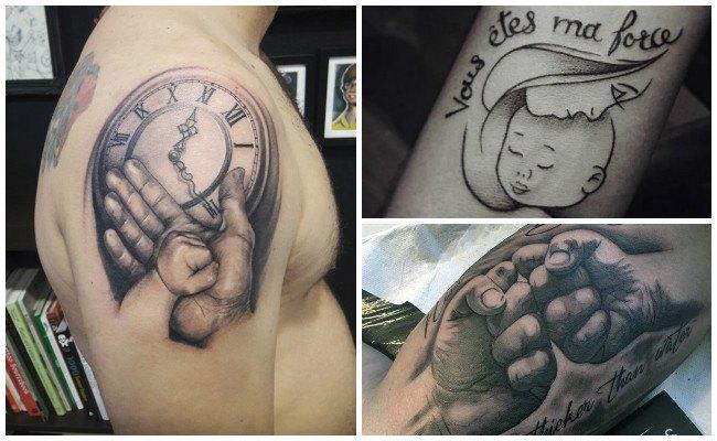 Tatuajes de huellas de bebés
