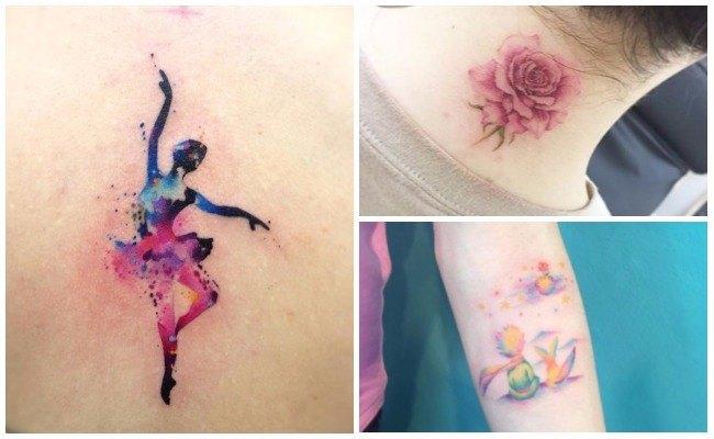 Tatuajes de manchas de pintura