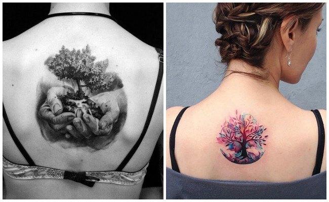 Tatuajes de mandalas del árbol de la vida