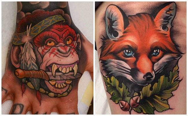 Tatuajes modernos en el antebrazo
