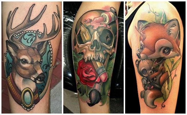 Tatuajes modernos en el cuello