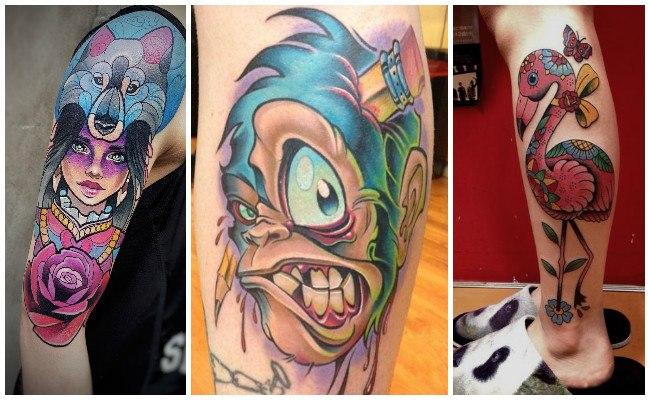 Tatuajes modernos en el pecho