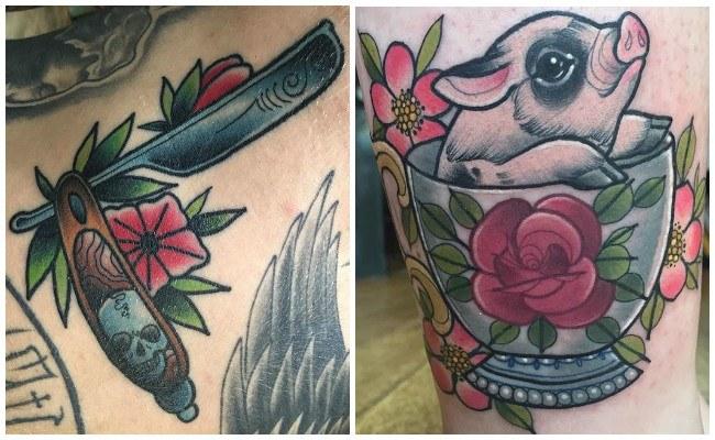 Tatuajes modernos en el pie