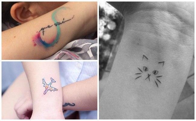 Tatuajes en la muñeca a color