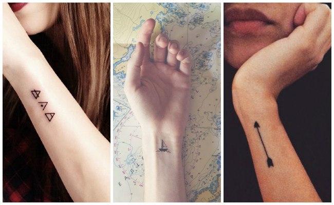 Tatuajes en la muñeca tipo brazalete