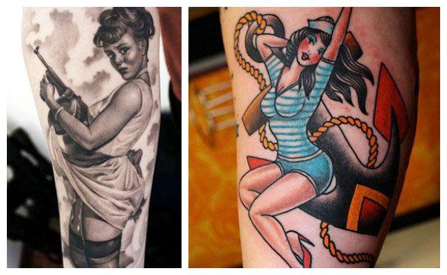 Tatuajes de muñecas pin up