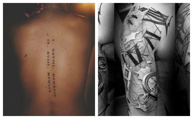 Tatuajes de fechas en números romanos