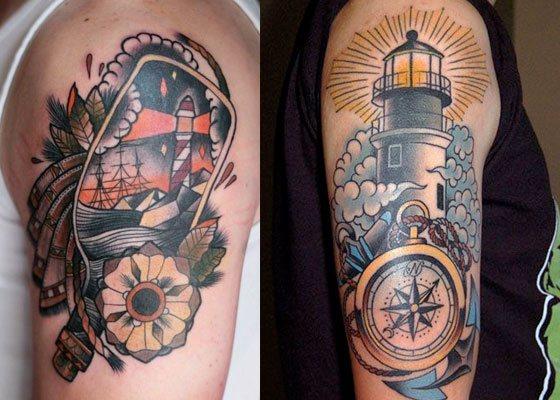 tatuajes old school brazo