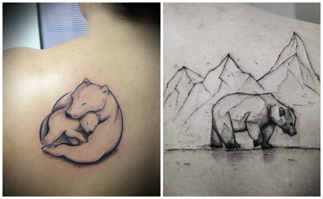 Tatuajes para mujeres de oso panda