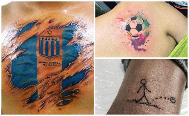 Tatuajes de pelotas de fútbol
