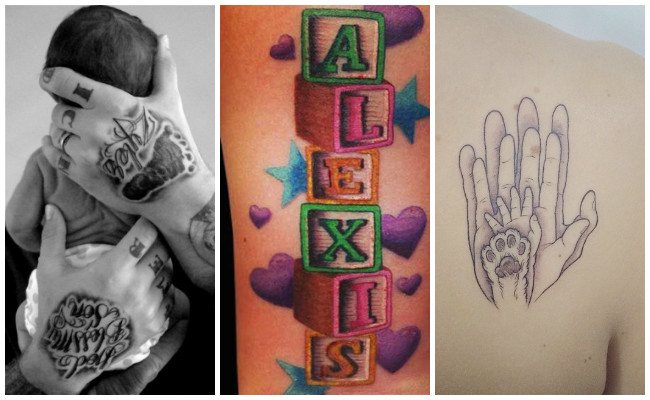Tatuajes de piecitos de bebés