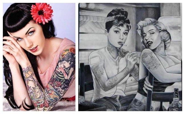Imágenes de tatuajes pin up
