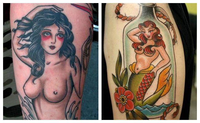 Tatuajes pin up old school