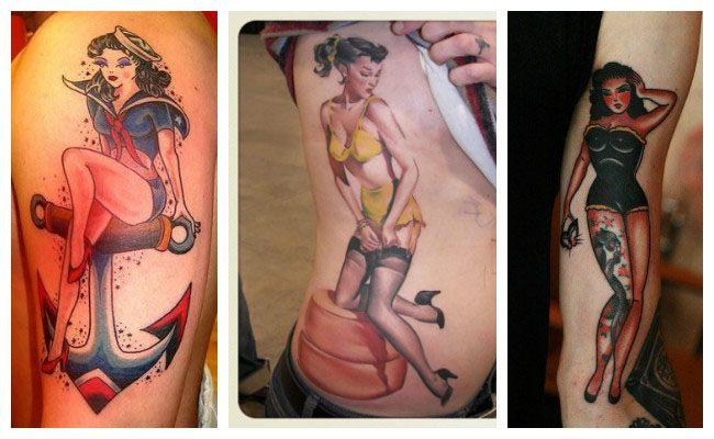 Tatuajes pin up para mujeres en el brazo