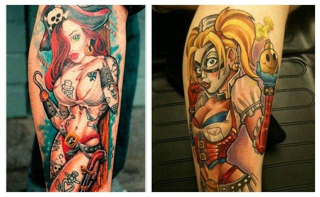 Tatuajes de chicas pinup para mujeres