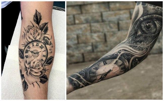 Tatuajes de relojes en la mano