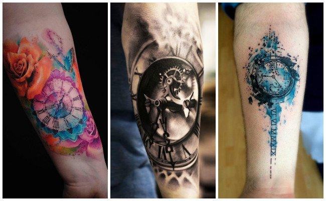 Tatuajes de relojes y rosas