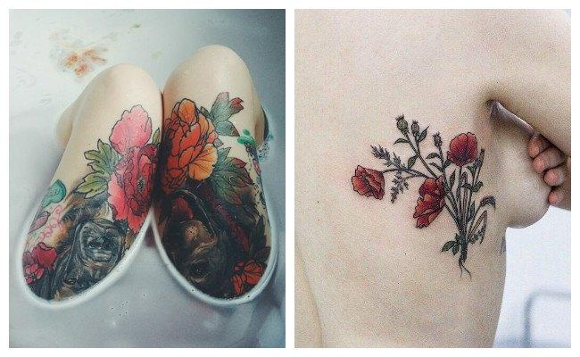 Tatuajes de rosas bonitas