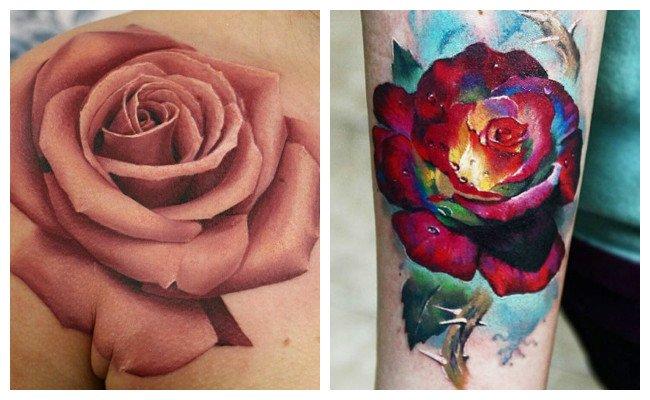 Tatuajes de rosas para chicas