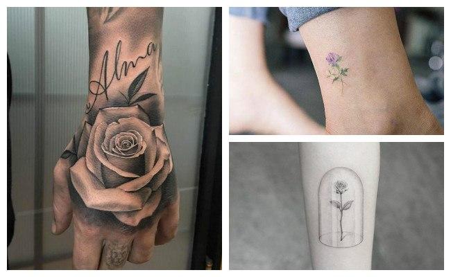 Tatuajes de rosas con nombres