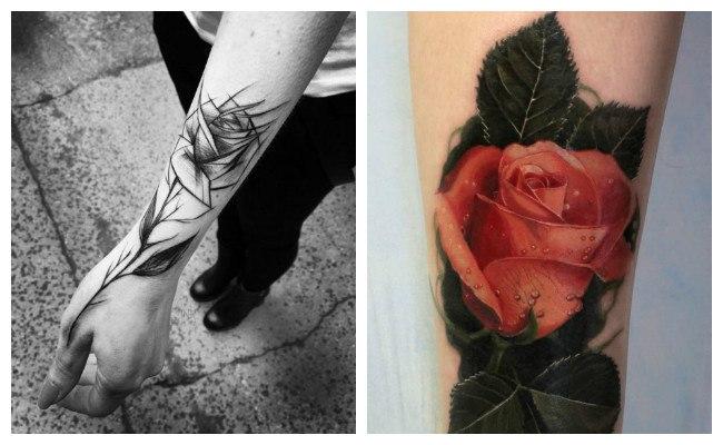 Tatuajes de rosas delicadas