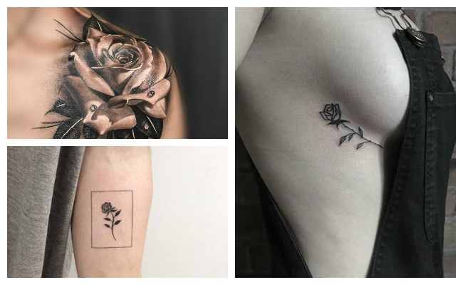 Tatuajes de rosas geometricas