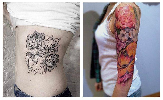 Tatuajes de rosas juntas