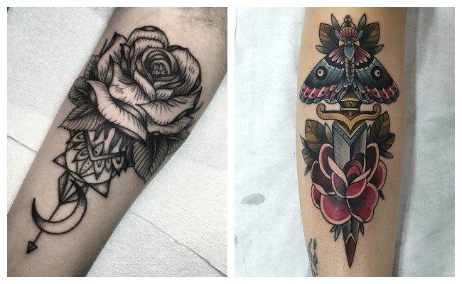 Tatuajes de rosas a lapiz