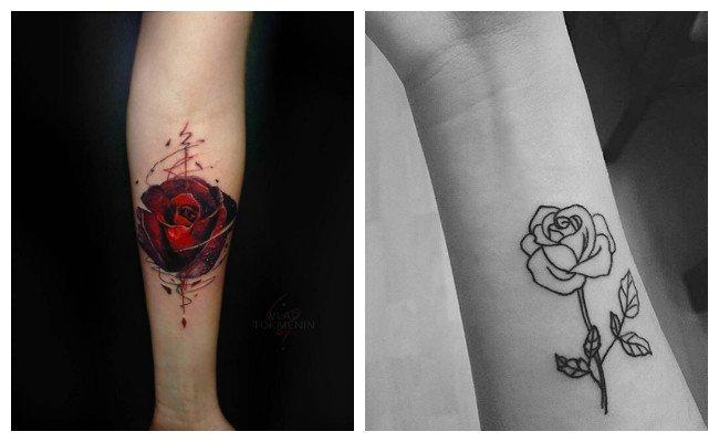 Tatuajes de rosas minimalistas