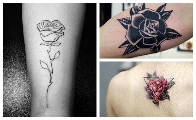 Tatuajes de rosas negras