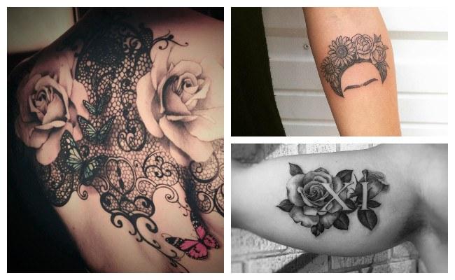 Tatuajes de rosas realistas