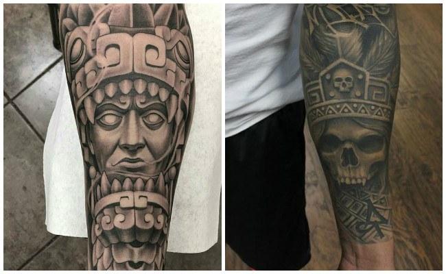 Tatuajes de serpiente azteca